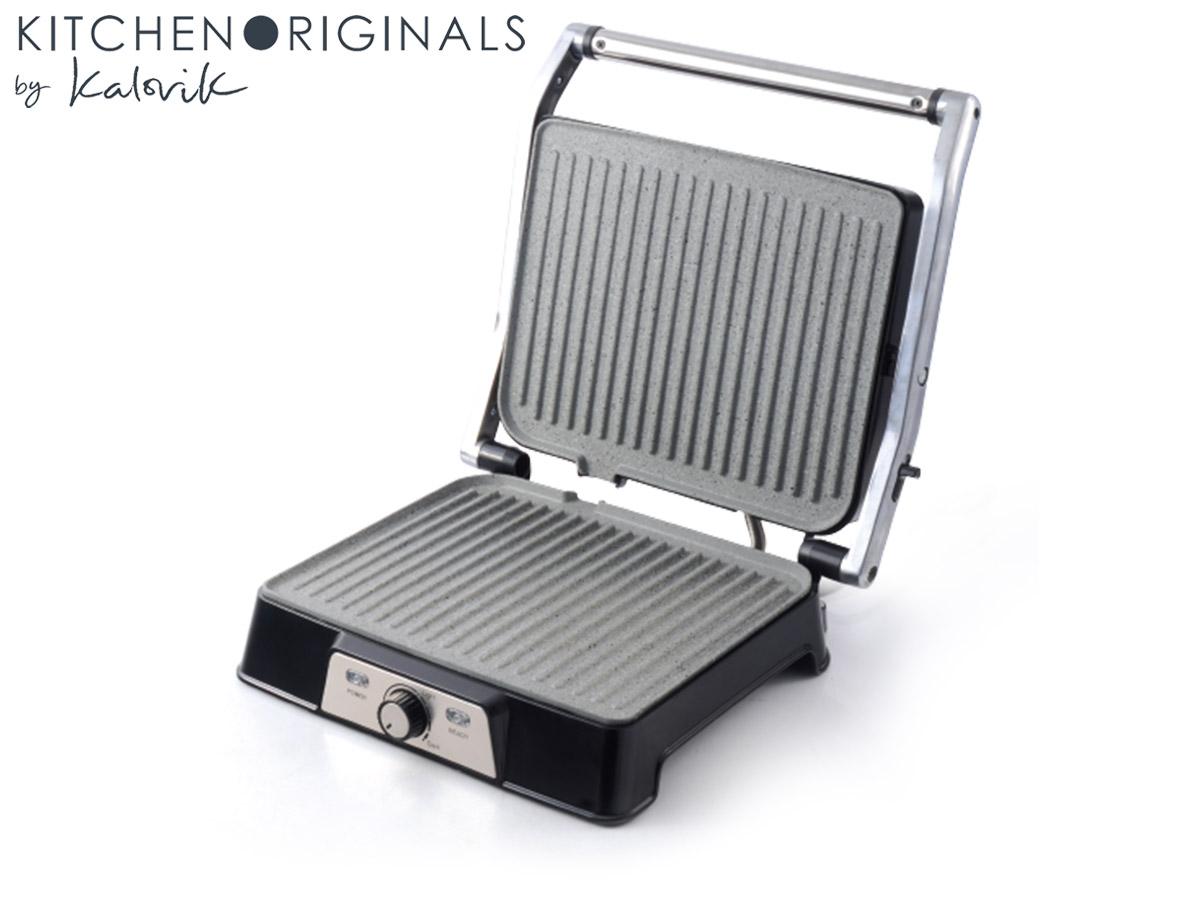 Kontaktgrill Elektro Panini Sandwichmaker Temperaturregelung Timer*40825 002