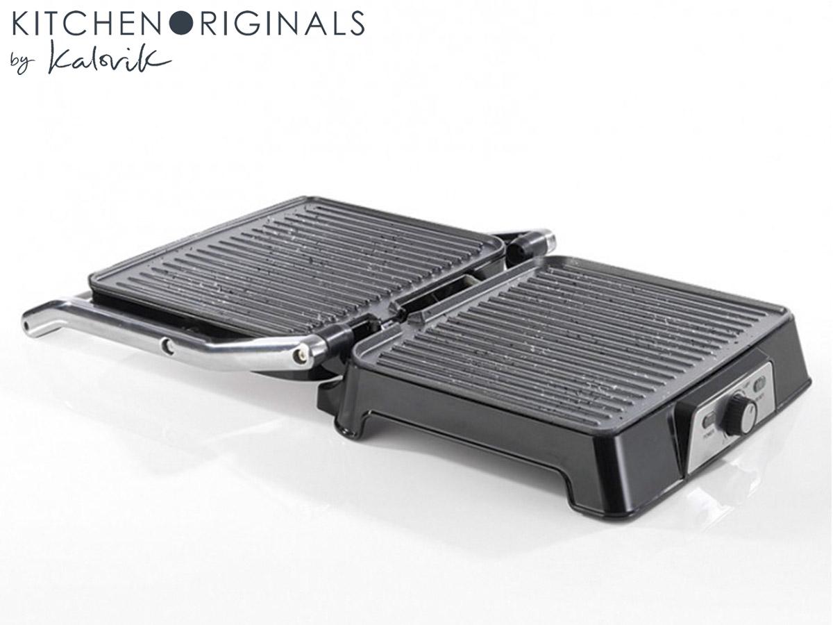 Kontaktgrill Elektro Panini Sandwichmaker Temperaturregelung Timer*40825 003