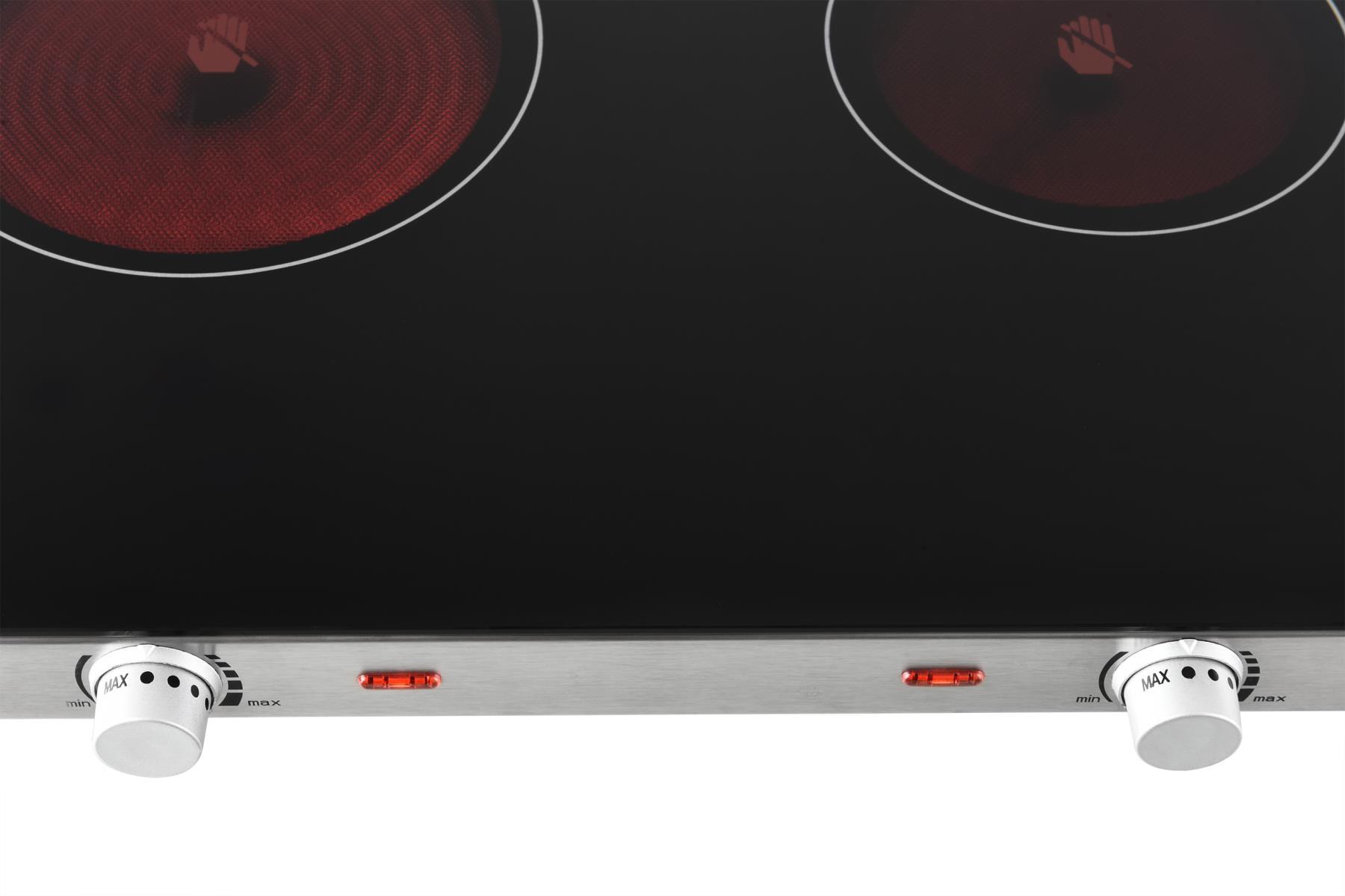 Glaskeramik-Kochplatte Infrarot Doppelkochfeld Ceran 2800W (Karton defekt)*42171 Bild 3