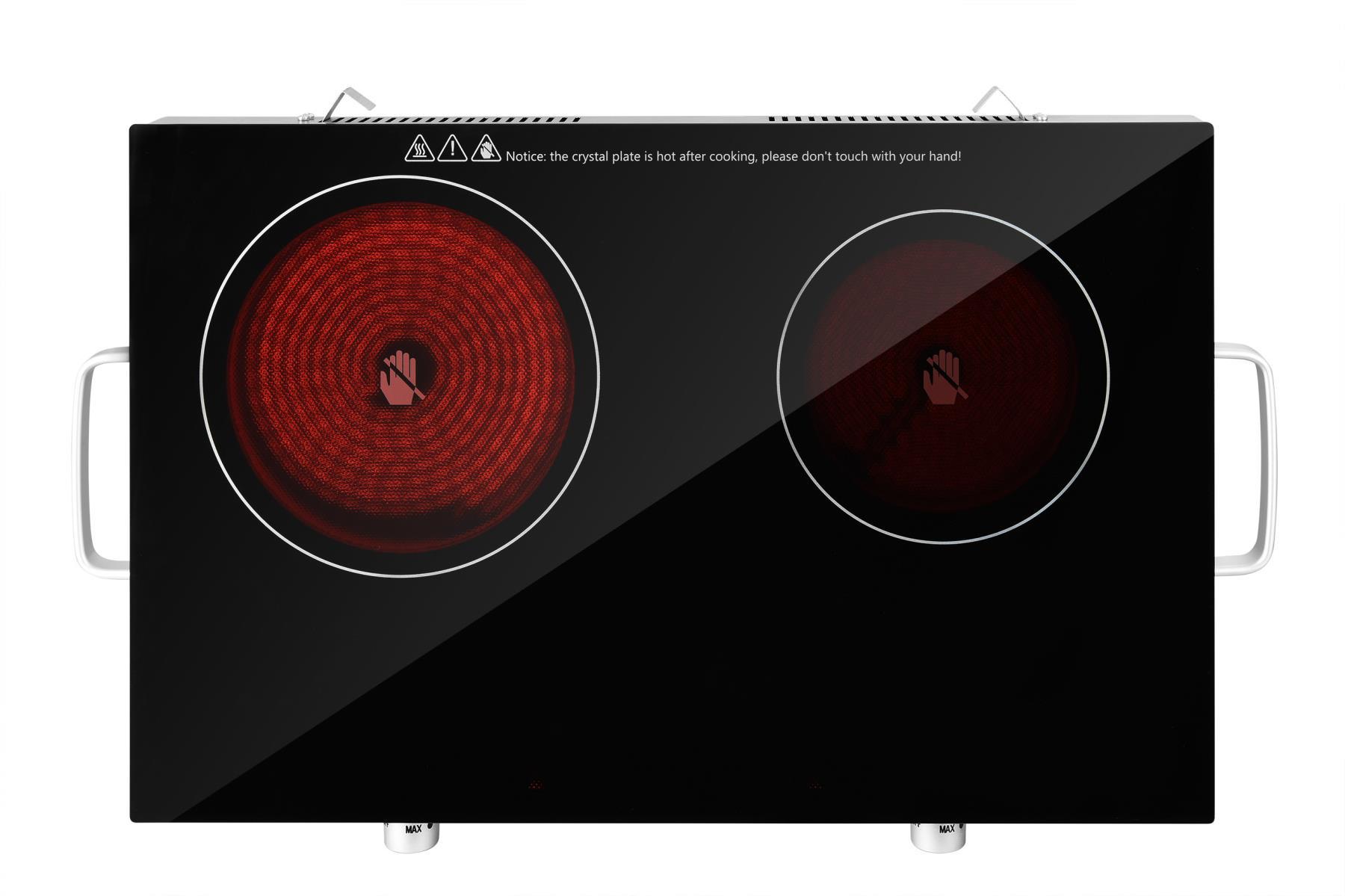 Glaskeramik-Kochplatte Infrarot Doppelkochfeld Ceran 2800W (Karton defekt)*81302 Bild 2