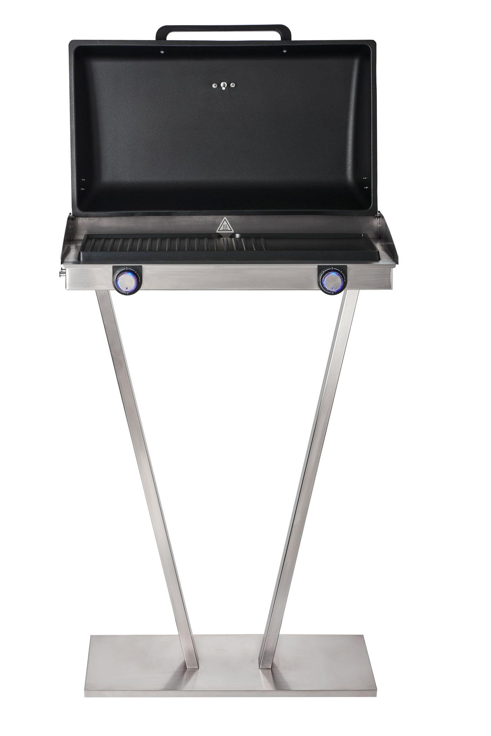 elektrischer Barbecuegrill Standgrill Elektrogrill Edelstahl Karton defekt*01405