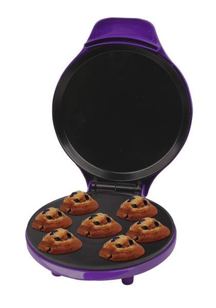Muffinmaker 7-fach Cupcakes Törtchen Bäcker Piemaker 900W lila (Karton defekt)*04704