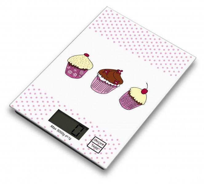 Digitale Küchenwaage mit Cupcake-Muster