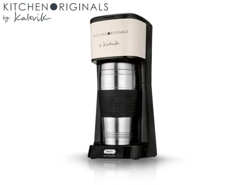 1-Tassen-Kaffeemaschine Kaffeeautomat Edelstahl Thermobecher TO GO 420 ml 650 W NEU*30147 Bild 2