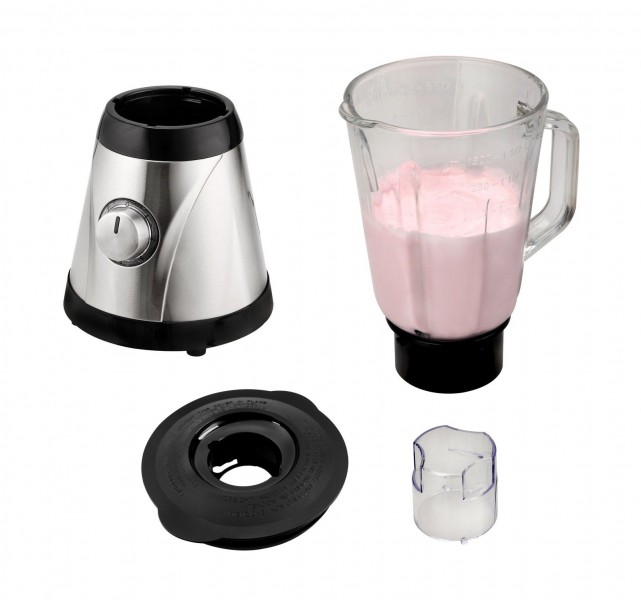 Standmixer Blender 1.5L Glas Edelstahl Ice Crusher Smoothie(Karton defekt)*34039 Bild 2