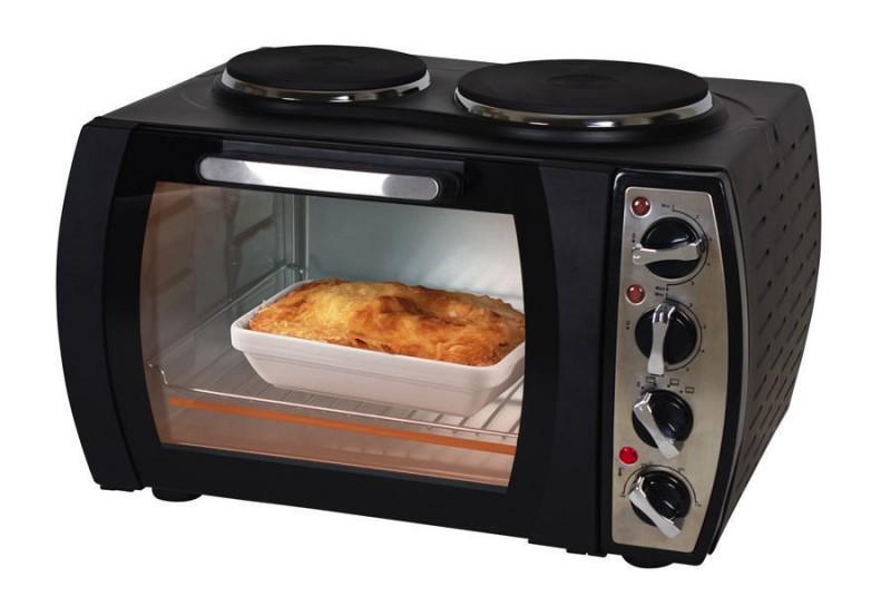 Kleinküche Back-Ofen Kochplatten Doppelkochplatte(Karton beschädigt)*09723
