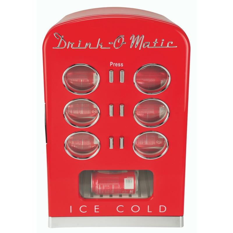 Retro Getränke Kühlschrank Dosenkühler Minibar rot (Karton beschädigt) *72232