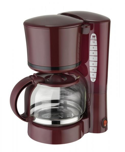 Kaffeeautomat weinrot, 10 Tassen