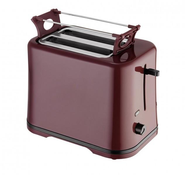2-Scheiben-Toaster weinrot