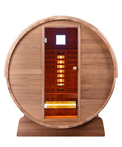 Infrarot Fass Sauna Clear Cedar