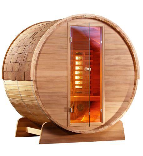 Infrarot Fass Sauna Cedar Holz