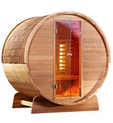 Infrarot Fass Sauna Cedar Holz 001