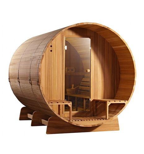 Fass Sauna Cedar Holz Clear