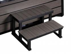 Kunststofftreppe / Platinum Grau