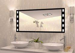 """Wandspiegel / Badspiegel auf Glas """"Requies"""" 001"""