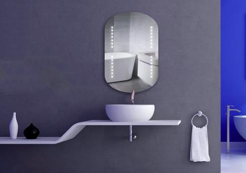 badspiegel mit rundbogen oben und unten led oveos wandspiegel led spiegel led. Black Bedroom Furniture Sets. Home Design Ideas
