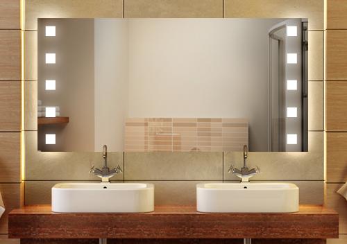 wandspiegel badspiegel quasar wandspiegel led. Black Bedroom Furniture Sets. Home Design Ideas