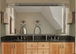 Badspiegel mit LED Beleuchtung -  Fertigung nach Maß ab 40x40cm.
