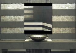 Design Flurspiegel / Wandspiegel auf Lacobel Glas, Maße ab 40x40cm.
