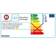 """Badspiegel mit Rundbogen oben und unten LED """"Oveos II"""" 002"""