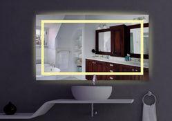 "Badspiegel ""Luce"" LED mit RGB Technik inkl. Fernbedienung 003"