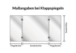 "Wandspiegel / Badspiegel ""Zarra"" 004"