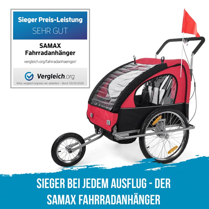 SAMAX Fahrradanhänger vergleich.org