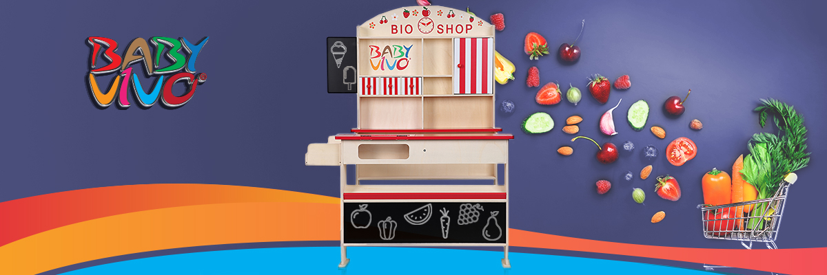 Great fun and games with the Baby Vivo Wooden Toy Shop