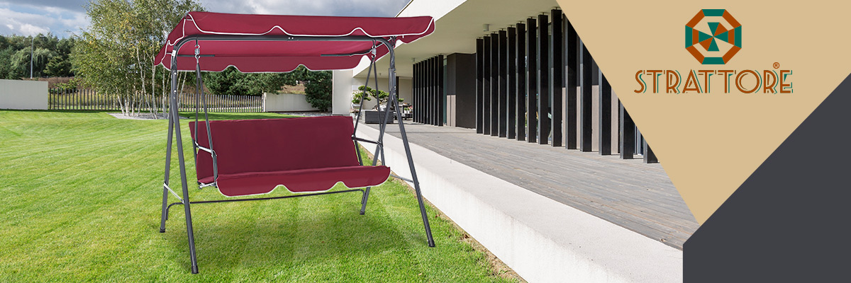 The Strattore porch swing invites you to relax and sunbathe