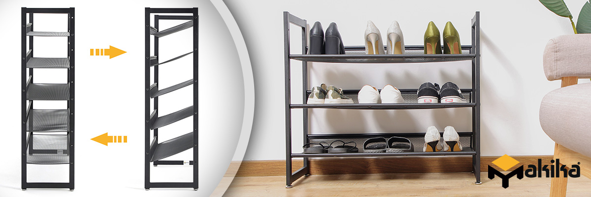 Beautiful and spacious shoe shelves by Makika