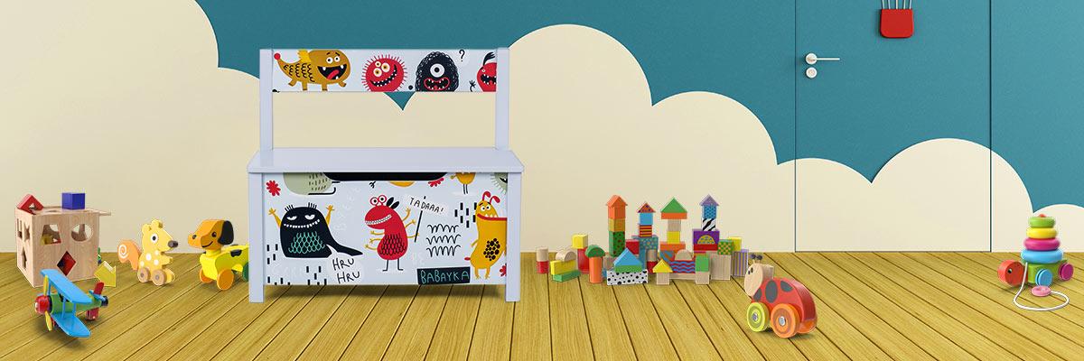 Spielzeugtruhe Baby Vivo