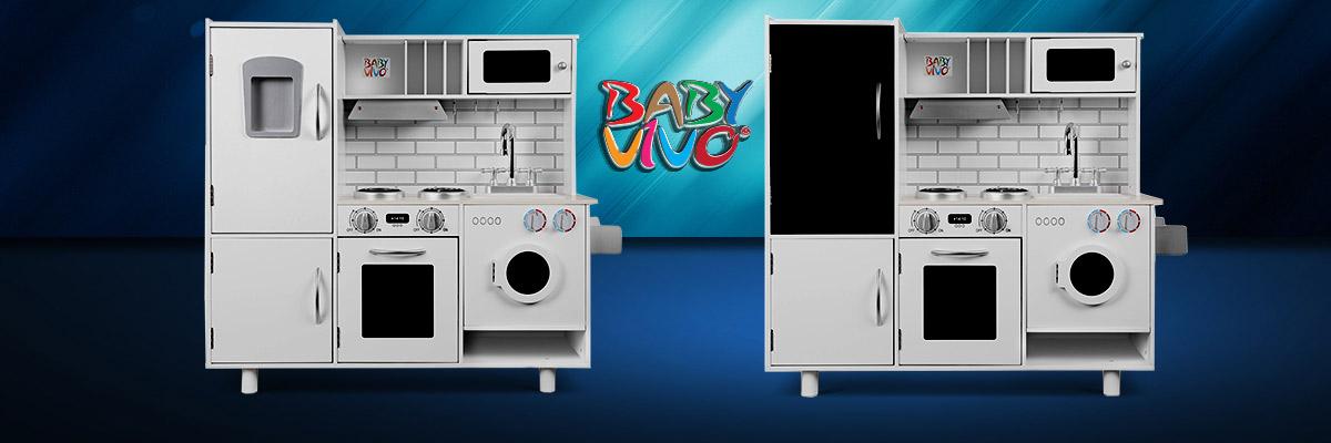 Blicken Sie in strahlende Kinderaugen - mit der Kinderküche Bruno von Baby Vivo