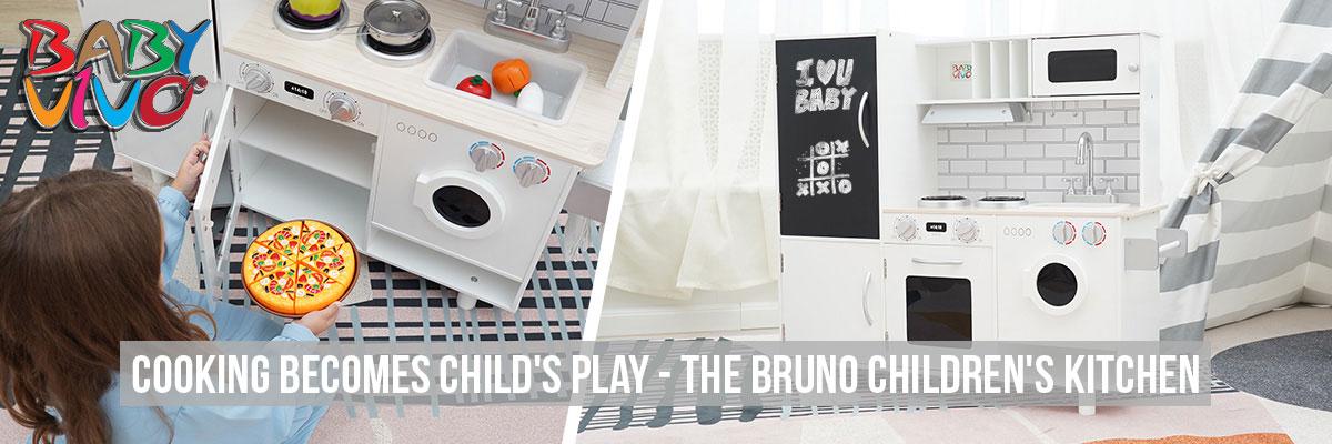 Baby Vivo - Wooden Play Kitchen for Children