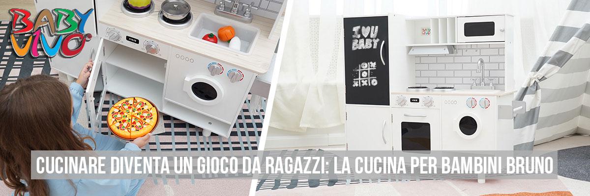 Baby Vivo Cucina per Bambini in Legno - Bruno