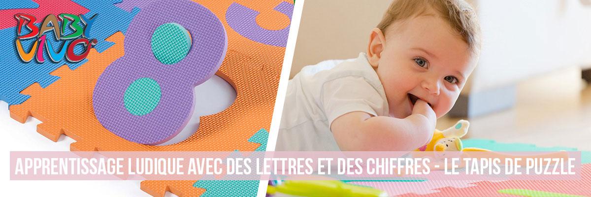 Baby Vivo Tapis de jeu puzzle