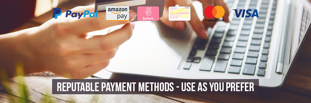 Reputable payment methods - use as you prefer