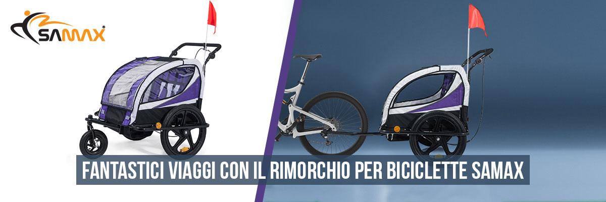 SAMAX 360° girevole Rimorchio per Bicicletta