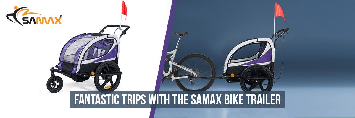 SAMAX Children Bike Trailer 2in1 Jogger