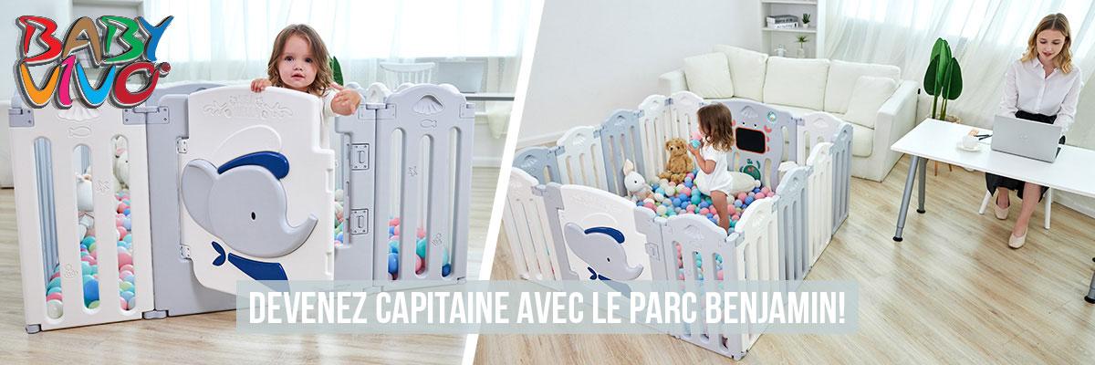 Baby Vivo Parc Bébé en Plastique pliable