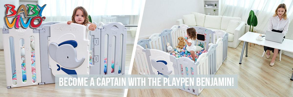 Baby Vivo Playpen Plastic Foldable