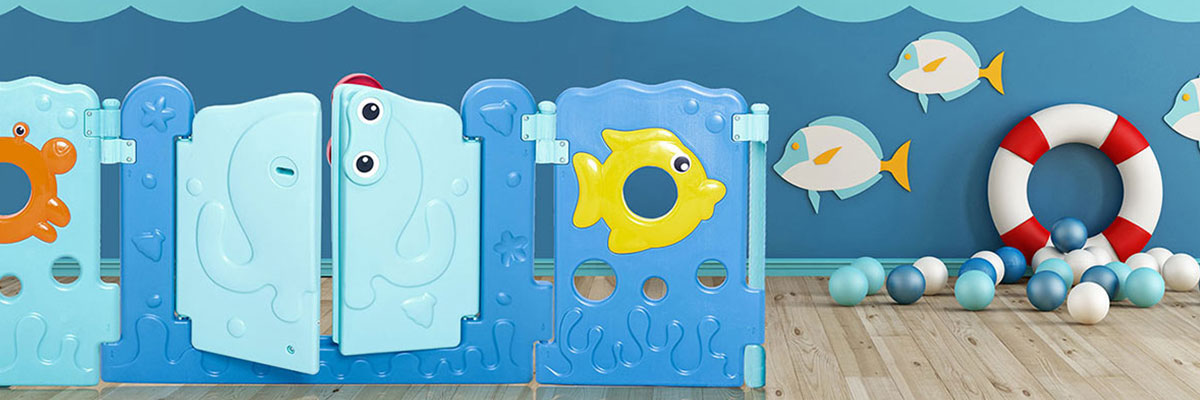 Baby Vivo Laufgitter aus Kunststoff 14 Elemente - Sea World