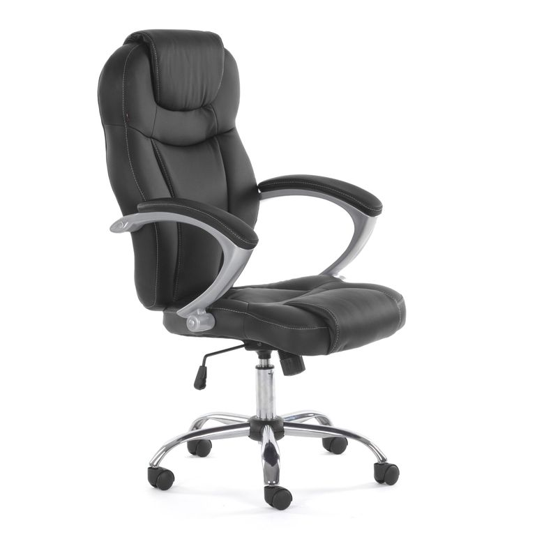 MY SIT Office Chair Rome Faux Leather in Black