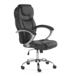 MY SIT Office Chair Rome Faux Leather in Black 001