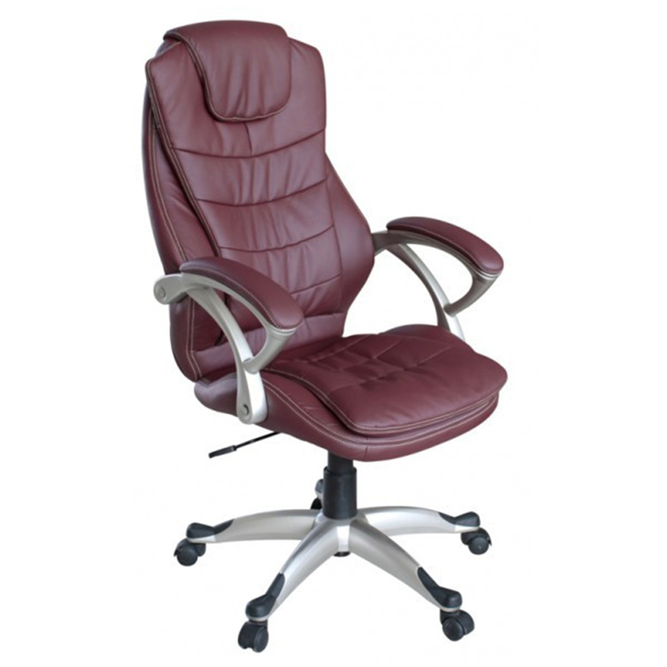 My Sit Office Chair Chicago Deluxe Faux Leather In Burgundy