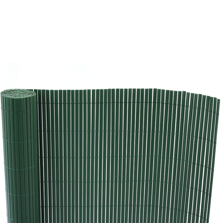 Sichtschutz / Windfang aus PVC Kunststoff 90 x 1000 cm dunkelgrün – Bild 3