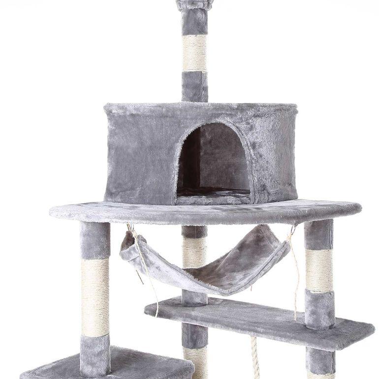 zoomundo Tiragraffi per Gatto con Graffiatoio 255 cm in Grigio – Bild 10