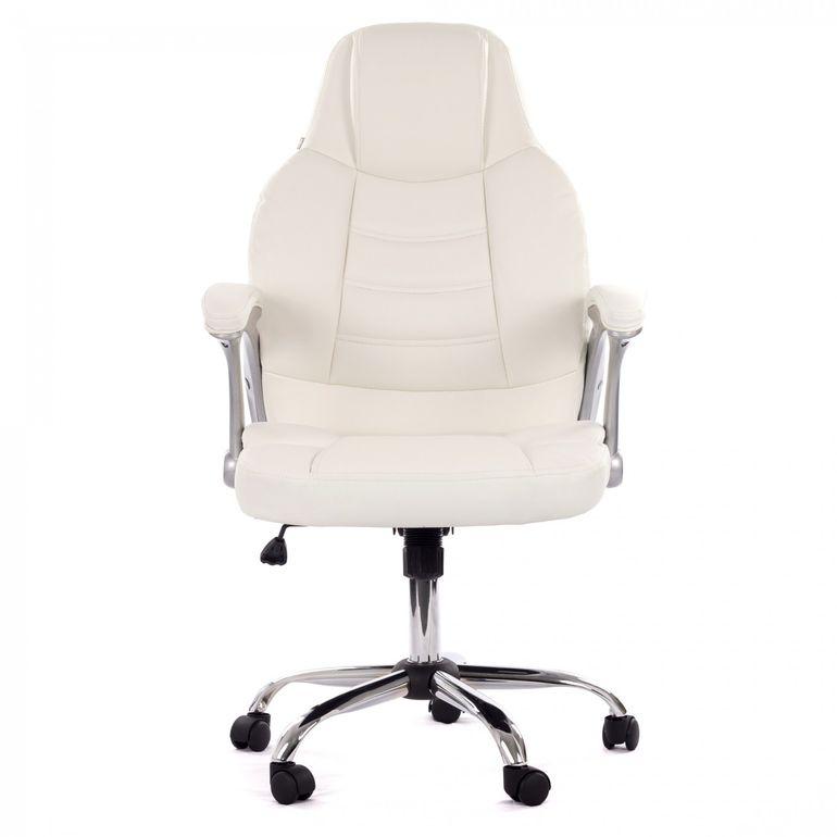 MY SIT Bürostuhl Chefsessel Venecia Deluxe aus Kunstleder in Weiß – Bild 2