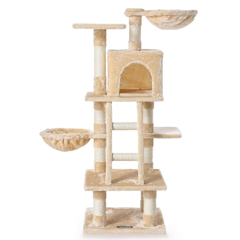 zoomundo Cat Tree / Scratching Post 120 cm in Beige
