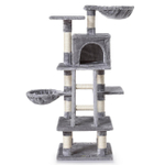 zoomundo Cat Tree / Scratching Post 120 cm in Grey