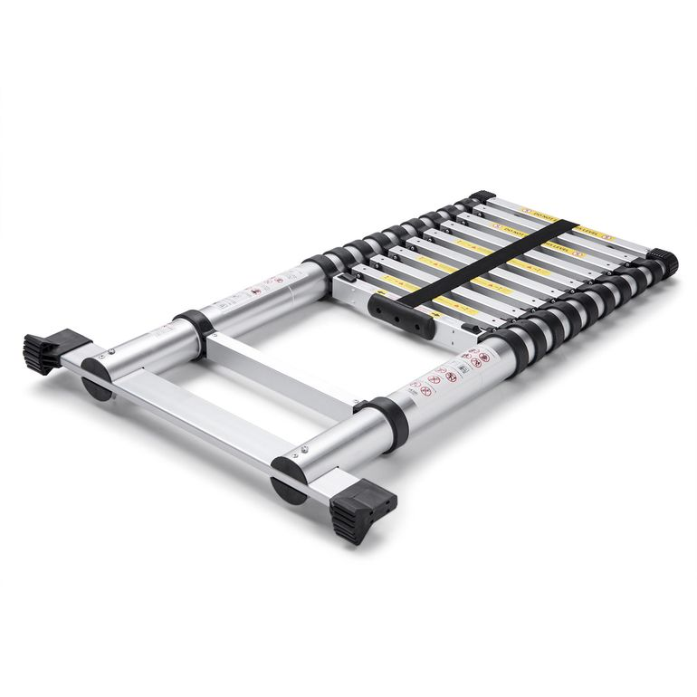 MAXCRAFT 3,20 m Telescopic Aluminium Ladder with Finger Protection Spacers – Bild 4